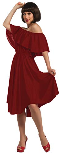 Fever Night Kostüm Adult Saturday - Rubie 's Damen Saturday Night Fever Rot Kleid Kostüm, Standard, (USA Größe 12), Brust 91,4-96,5 cm Taille 68,6-76,2 cm