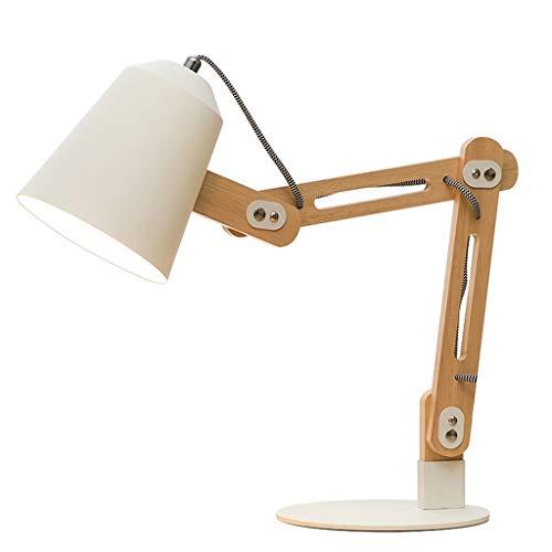 ZHAO YELONG Metall Lampenschirm Tischlampe Nachttischlampe Schlafzimmer, Wohnzimmer, Dekorative Lichter Hotel (Farbe : Weiß)