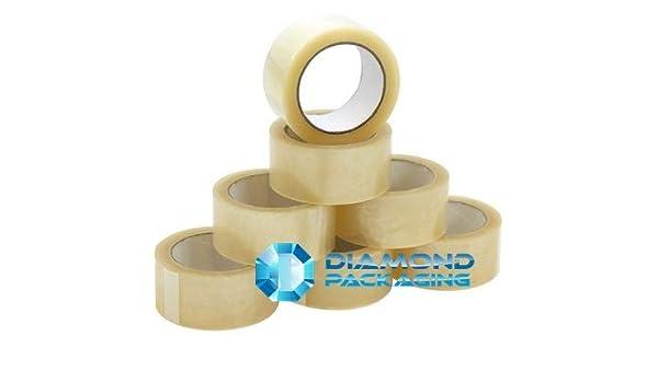 Realpack/® 24 x 66 mm fornisce una forte tenuta sicura e aderente nastro adesivo trasparente per imballaggio confezione da 12 rotoli