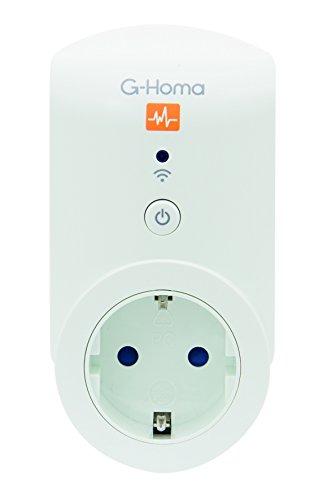 Preisvergleich Produktbild 4smile.shop Wifi Schalt-Steckdose mit App-Steuerung für IOS und Android, 2 Stück in weiß | mit Energieverbrauchsfunktion