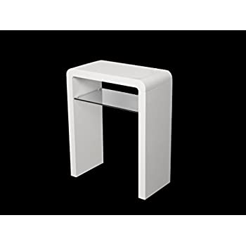 white hallway console table. Atlanta White Console Table With Shelf - Hall Small Living Room Furniture Hallway