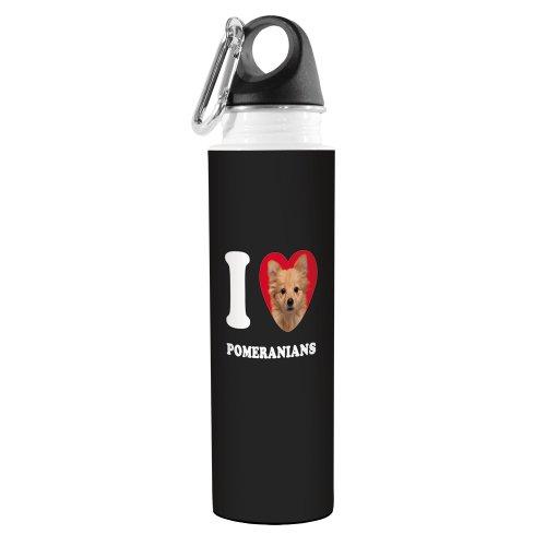 Tree-Free Greetings VB49102 Trinkflasche mit Herz-Pomeranians Artful Traveler, Edelstahl, 457 ml, Hellbraun -
