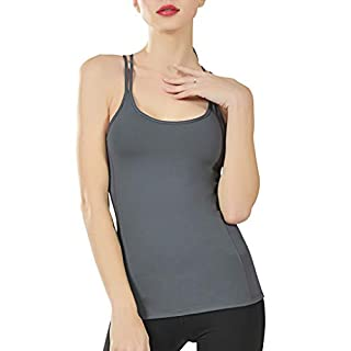 TOPSELD Rmellose Weste Damen, Mode FüR Frauen Sport Yoga Fitness Workout ÄRmel Tops T-Shirt,Weste Tank Top