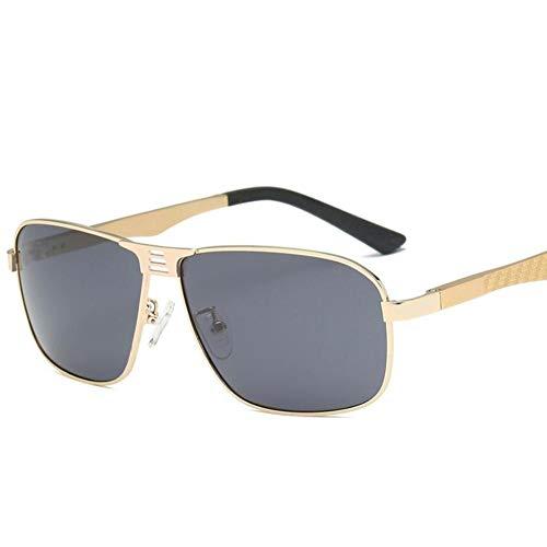 SUNHAO Sonnenbrille Herren Fahren polarisierte Sportbrillen Angeln Golfbrille Schutz Fashion Style Metallrahmen Ultra Light Pilot Spiegel Retro Aluminium Magnesium