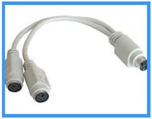 PS2 Y-Adapter für Maus und Tastatur -