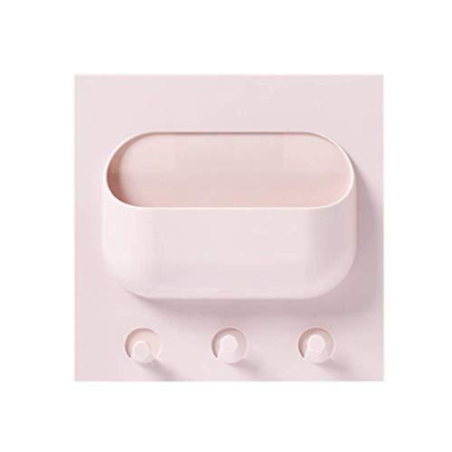 KFYOUXIN Desktop-Aufbewahrungsbox Finishing-Box Tissue-Box Stitching Makeup Organizer Schmuck Aufbewahrungsbox Multifunktionaler Remote Control Schubladentyp Single pink (Remote-organizer)