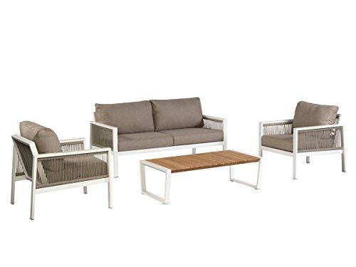 Exotan Garten Lounge Sydney Lounge Set inkl. Kissen Gartenlounge Loungegruppe Sitzgruppe Gartenmöbel Set