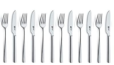 Richardson Sheffield LUXURY 18.10 Stainless Steel 12 Piece 6 Person Steak Knife Knives Set in Loxley Design