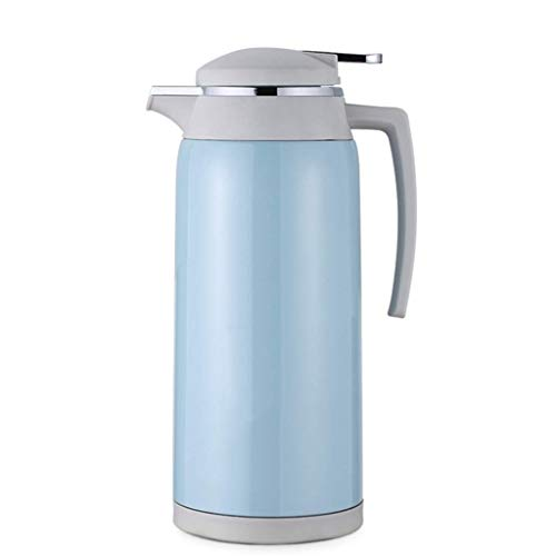 YINUO Cups Isolation Topf Haushalt 304 Edelstahl Thermos Große Kapazität Tragbare Thermos Durchlauferhitzer 1,6L Thermosgefäße Thermosflaschen Flachmänner (Color : Blue)