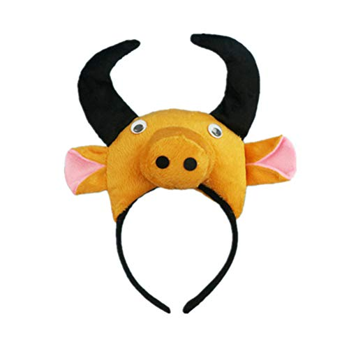 Amosfun 1pc 3D Tiere Stirnband Vieh Muster Party Cosplay Kostüm