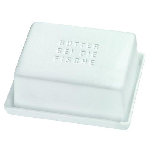 Butterdose Butterbehälter Butter BEI DIE Fische Poesie et Table. Breakfast Räder Fisch-butter