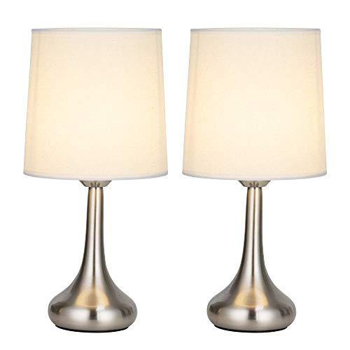 Juego de 2 lámparas de mesilla de noche pequeñas, lámparas de mesa ...