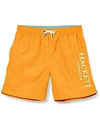 Hackett London Logo Volley B Bañador, Naranja (135orange 135), 98 (Talla del Fabricante: K03) para Niños