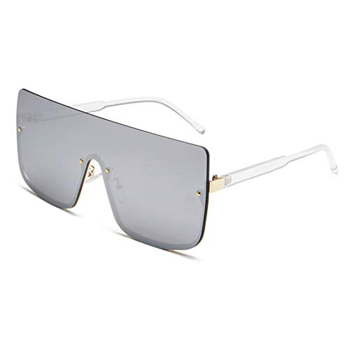 Chudanba Fashion Big Square Sungalsses Frame Shades Damen Herren Unisex Eyewear,Goldrahmensplitter