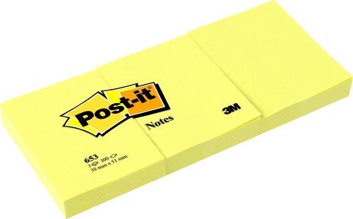 Post-it Note, Giallo Canary, 38x51 mm, Confezione da 3 pezzi