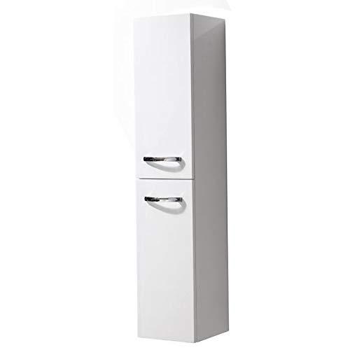 Générique Pacome Colonne de Salle de Bain l 25 cm - Blanc laqué Brillant