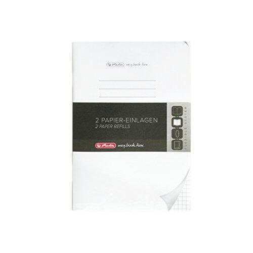 Herlitz 11361888 Refill flex A5, 2x 40 Blatt kariert my.book Notizbuch-refill-papier