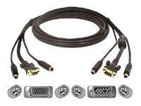 Omniview Kvm-kabel-kit (Belkin OmniView USB-KVM-Komplettgarnitur Gold-Serie 1.8m)