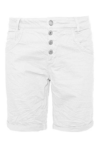 Urban Surface Damen Bermuda Shorts | Bequeme kurze Stoffhose aus Stretch-Twill - Loose Fit white L