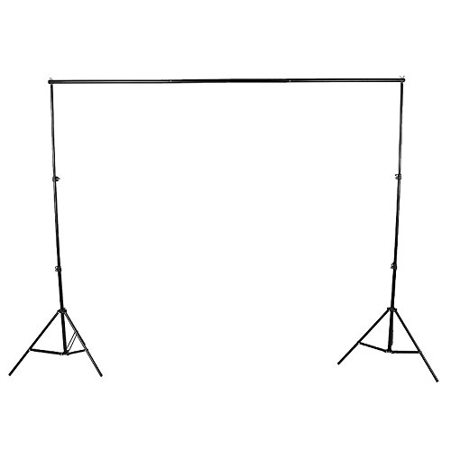 Asixx Support de Photographie, kit de Support de Fond de Photographie en Alliage d'aluminium avec Sac de Rangement, 2 Supports d'atterrissage et 3 Sections de Barre transversale
