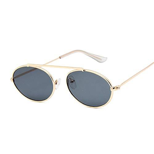 YUHANGH Nette Sexy Retro Oval Sonnenbrille Frauen Berühmte Gold Schwarz Vintage Retro Sonnenbrille Weibliche Rote Eyewear