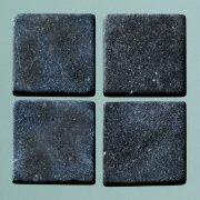 MosaixPur 10x 10x 4mm 200g 205-piece Naturstein Mosaik Fliesen, schwarz