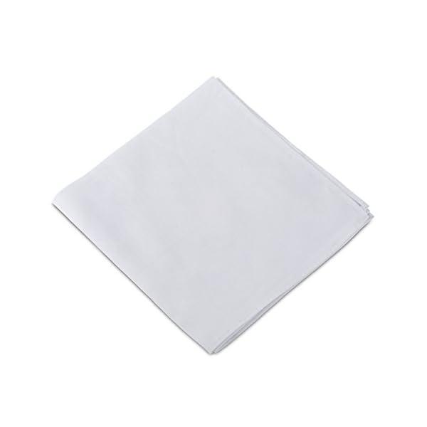 2Clicks - Fazzoletto da uomo di Dapper Pocket Square in 100% cotone, vari colori 3 spesavip