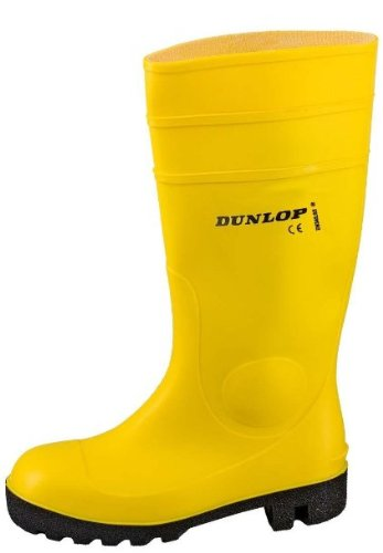 Dunlop Protomaster Full Safety Gummistiefel,Arbeitsstiefel,Regenstiefel,Gartenstiefel (47, gelb)