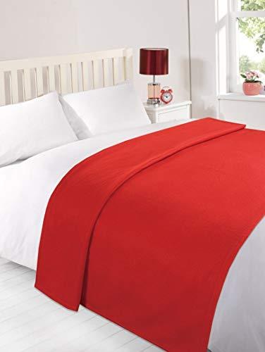 Dreamscene Plain rojo suave manta más manta rojo–120x