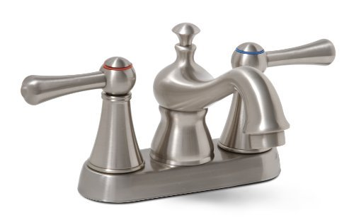 Lead Free Centerset (Premier 120577LF Sonoma Lead-Free Centerset Two-Handle Lavatory Faucet, Brushed Nickel by Premier)