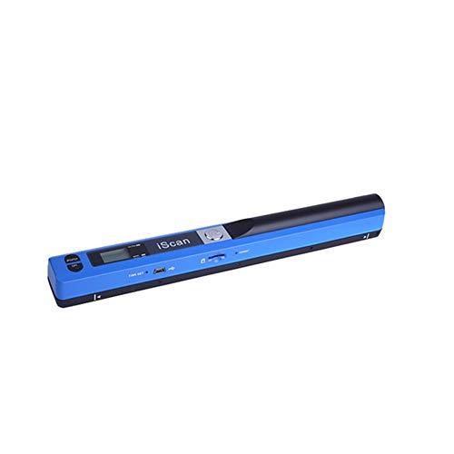 Tragbarer Scanner A4-Dokumentenscanner Handheld 900 DPI LCD-Display Auswahl des JPG- / PDF-Formats, Micro SD-Karten-Handscanner für Unternehmen, Foto, Bild, Quittungen, Bücher,B