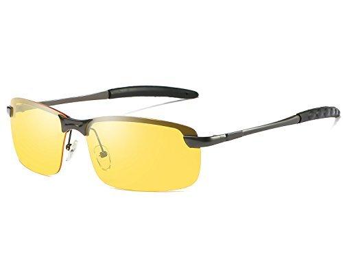 ae3fa3ab52 Red Peony Gafas De Sol Amarillas Conducir Nocturnas polarizadas Gafas de  sol de aviador Protección UV