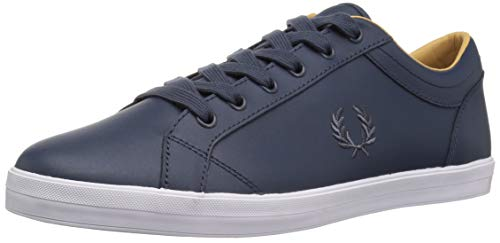 Zapatilla Fred Perry Baseline Leather Marino Hombr 43 Azul