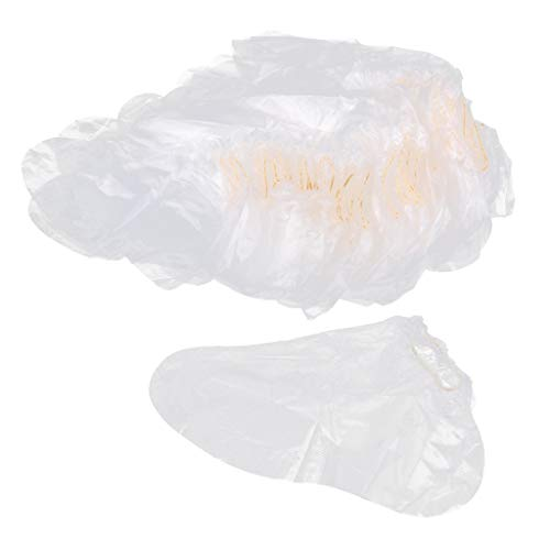 CUTICATE 100 Stück Einweg Kunststoff Socken für die Fußpflege, Paraffinbad und andere Hautpflege (Einweg-socken)