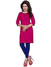 aikunth fabrics Women's Rayon Pink New Style Low Price Party Wear Kurtis/Kurtas For Women