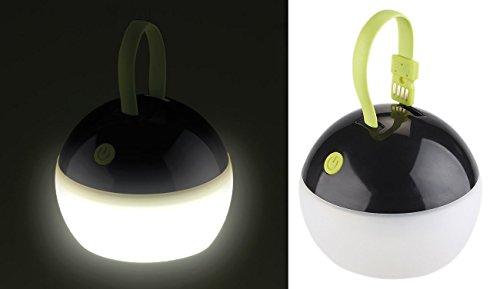 Lunartec Akku Lampen: LED-Akku-Zeltleuchte, 3 Helligkeitsstufen, 100 lm, 2 Watt, IPX7, USB (Alternative zur Taschenlampe) (Karte Mit Laterne)