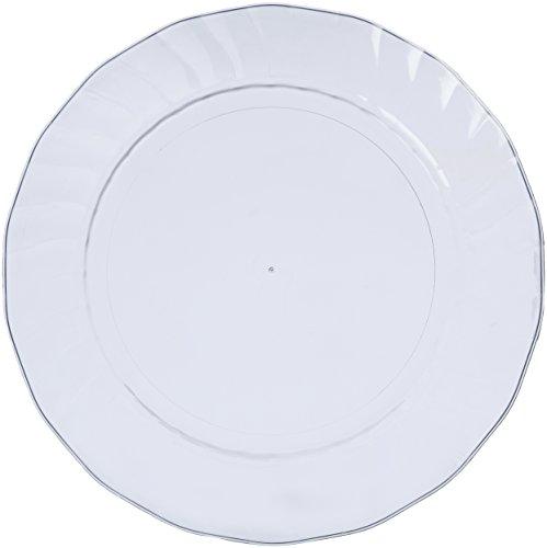 AmazonBasics - Platos de plástico desechables - Pack de 50, 26 cm