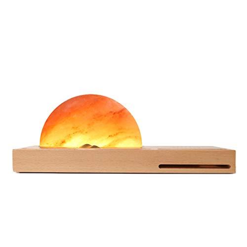 Kreativ Neu LED-Licht Umgebungs Meditation Himalaya-Salzlampe MitDrahtloses Ladegerät Sound-Verstärker, 26.5×10×9.5cm, Harz Lite Version - Langer Abschnitt -