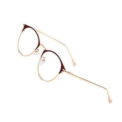 Idyandyans Frauen Männer Klar Dekorative Glas-Schauspiel Plain Gläser Transparent Brillen UnisexEyewear