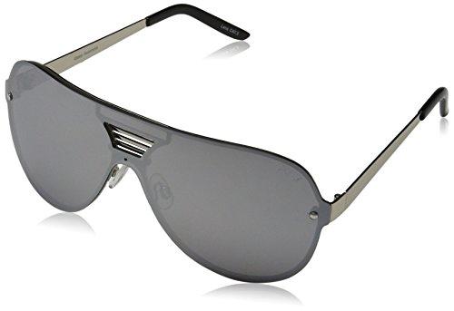 Quay Eyewear Unisex-Erwachsene Sonnenbrille Showtime, Silver/Silver, 145