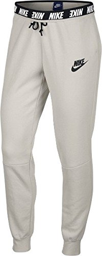 Nike 885377 Pantalon Femme, Light Bone/Noir, FR (Taille Fabricant : XL)