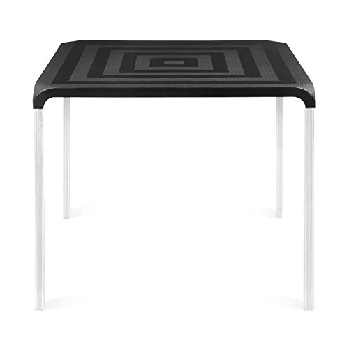 @home by nilkamal Novella 4 Seater Polypropylene Black Dining Table  available at amazon for Rs.4500