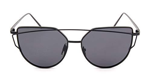 LKVNHP cat Eye Sonnenbrille für Frauen polarisierte gespiegelt Damen Sonnenbrillegraue linse
