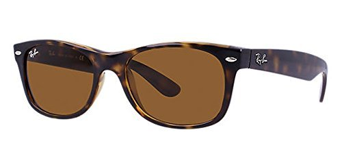 Ray-Ban RB2132 New Wayfarer Sunglasses Shiny Havana w/Crystal Brown (710) RB 2132 55mm
