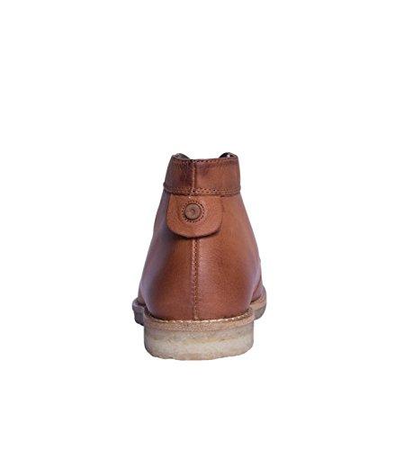 NOBRAND Chaussures hautes Femme Chaussures Bottes Bottines Boots-Cuir-Marron cognac