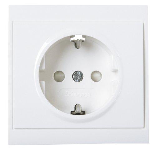 Preisvergleich Produktbild Kopp 923413082 Malta Schutzkontakt-Steckdose mit erhöhtem Berührungsschutz (Kinderschutzabdeckung), arktis