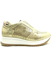 GMV 0041 Scarpe Donna Sneakers Slip On Strass Oro e0206ff80d0