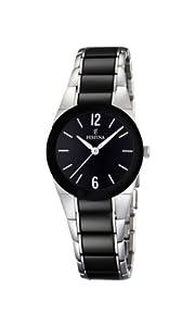 Reloj de mujer FESTINA F16534/2 de cuarzo, correa de acero inoxidable color negro de FESTINA