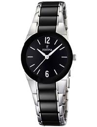 FESTINA F16534/2 - Reloj de mujer de cuarzo, correa de acero inoxidable color negro