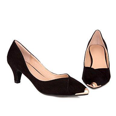 Moda Donna Sandali Sexy donna talloni con le quattro stagioni altri Velvet Office & Carriera / abito / Casual Stiletto Heel toe metallico nero / blu Blue